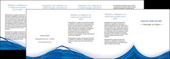 cree depliant 4 volets  8 pages  web design bleu fond bleu couleurs froides MLGI74706