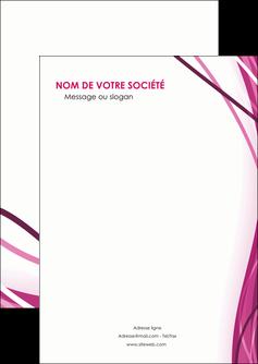 exemple flyers violet fond violet mauve MIF74712