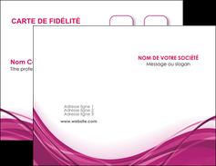 personnaliser modele de carte de visite violet fond violet mauve MIF74718