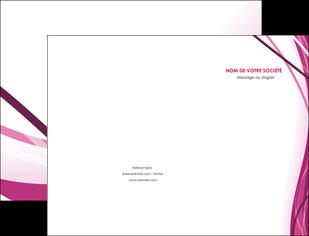 realiser pochette a rabat violet fond violet mauve MIF74720