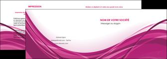 impression depliant 2 volets  4 pages  violet fond violet mauve MIF74724