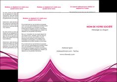 exemple depliant 3 volets  6 pages  violet fond violet mauve MIF74734
