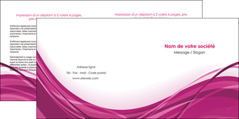 creer modele en ligne depliant 2 volets  4 pages  violet fond violet mauve MIF74738