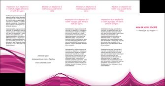 creer modele en ligne depliant 4 volets  8 pages  violet fond violet mauve MIF74756