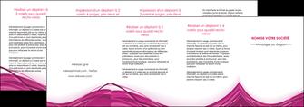 personnaliser maquette depliant 4 volets  8 pages  violet fond violet mauve MIF74758