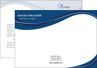 imprimer set de table web design bleu fond bleu courbes MLIG74816