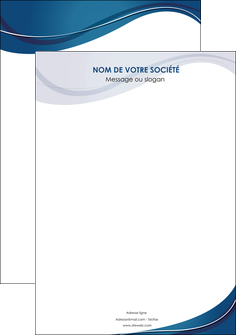 imprimerie affiche web design bleu fond bleu courbes MLGI74818