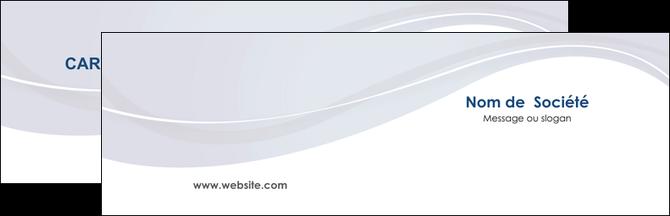Faire Modele A Imprimer Carte De Visite Web Design Bleu Fond Courbes MLGI74824