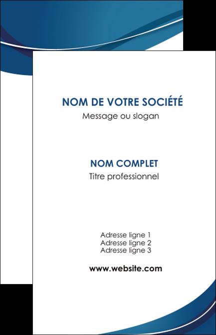 Exemple Carte De Visite Web Design Bleu Fond Courbes MLGI74826