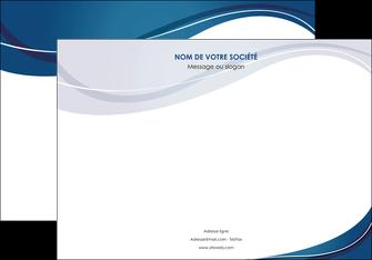 personnaliser modele de affiche web design bleu fond bleu courbes MLGI74838