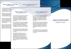 imprimer depliant 3 volets  6 pages  web design bleu fond bleu courbes MLGI74842