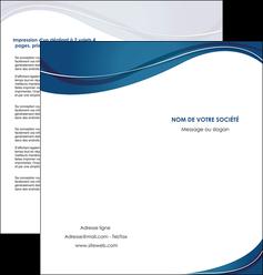 modele en ligne depliant 2 volets  4 pages  web design bleu fond bleu courbes MLGI74844