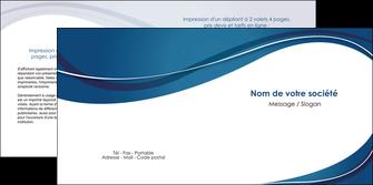 exemple depliant 2 volets  4 pages  web design bleu fond bleu courbes MLGI74846
