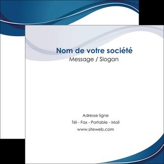 impression flyers web design bleu fond bleu courbes MLGI74850