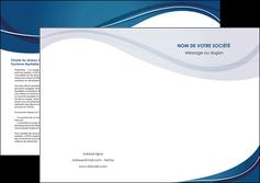 personnaliser maquette depliant 2 volets  4 pages  web design bleu fond bleu courbes MLGI74856