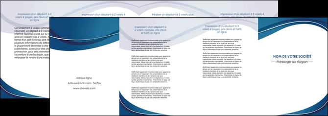 cree depliant 4 volets  8 pages  web design bleu fond bleu courbes MLGI74858