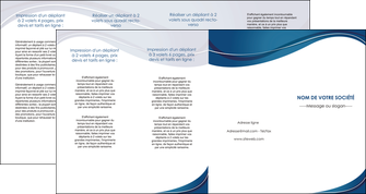 personnaliser maquette depliant 4 volets  8 pages  web design bleu fond bleu courbes MLGI74862