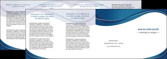 imprimerie depliant 4 volets  8 pages  web design bleu fond bleu courbes MLGI74864