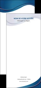 modele flyers web design bleu fond bleu courbes MLGI74866