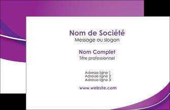 imprimer carte de visite web design violet fond violet couleur MLIG75246