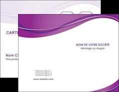 impression carte de visite web design violet fond violet couleur MLGI75256