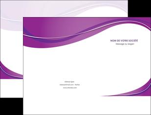 personnaliser modele de pochette a rabat web design violet fond violet couleur MLGI75258