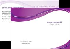 creation graphique en ligne depliant 2 volets  4 pages  web design violet fond violet couleur MLGI75286