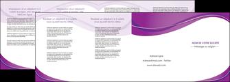 imprimerie depliant 4 volets  8 pages  web design violet fond violet couleur MLIG75290