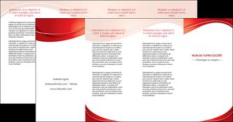 faire modele a imprimer depliant 4 volets  8 pages  web design texture contexture structure MIF75346