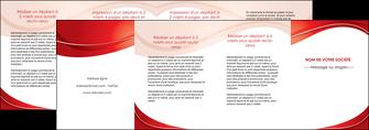 personnaliser maquette depliant 4 volets  8 pages  web design texture contexture structure MIF75348