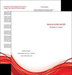 realiser depliant 2 volets  4 pages  web design texture contexture structure MLGI75486