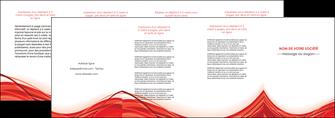 faire modele a imprimer depliant 4 volets  8 pages  web design texture contexture structure MLGI75500