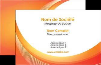 faire carte de visite web design orange fond orange colore MIF75600