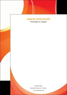 impression flyers web design orange fond orange colore MIF75602