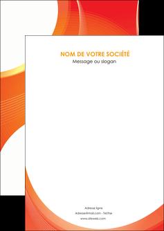 imprimer flyers web design orange fond orange colore MIF75604