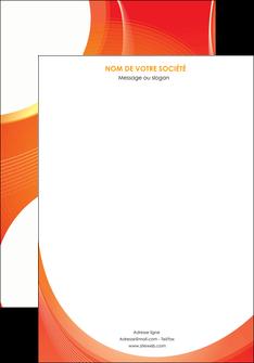 personnaliser maquette affiche web design orange fond orange colore MIF75606