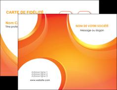 faire carte de visite web design orange fond orange colore MIF75610