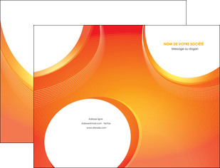 faire modele a imprimer pochette a rabat web design orange fond orange colore MIF75612
