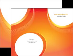faire modele a imprimer pochette a rabat web design orange fond orange colore MLIGBE75612