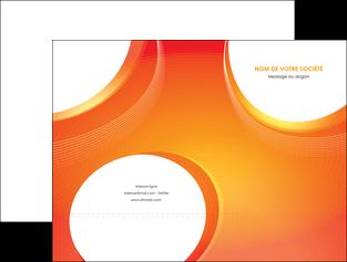 modele en ligne pochette a rabat web design orange fond orange colore MIF75614