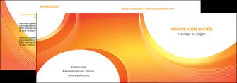 impression depliant 2 volets  4 pages  web design orange fond orange colore MIF75616
