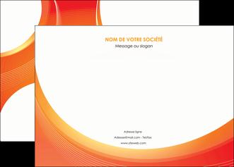 faire affiche web design orange fond orange colore MIF75620