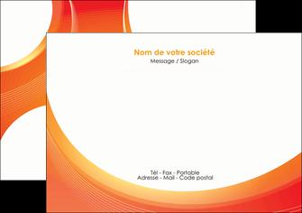 faire flyers web design orange fond orange colore MIF75624