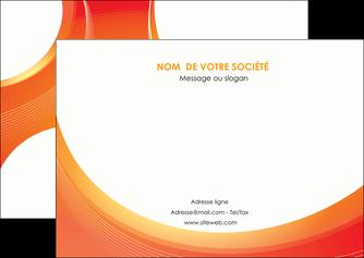 maquette en ligne a personnaliser flyers web design orange fond orange colore MIF75628