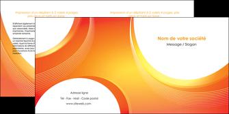 exemple depliant 2 volets  4 pages  web design orange fond orange colore MLIGBE75630