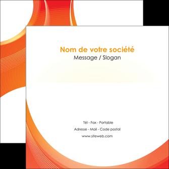 personnaliser modele de flyers web design orange fond orange colore MIF75632