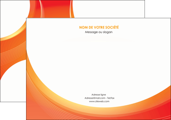 personnaliser modele de flyers web design orange fond orange colore MIF75634