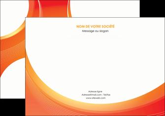 personnaliser modele de flyers web design orange fond orange colore MLIGBE75634
