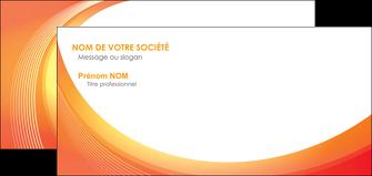 creer modele en ligne carte de correspondance web design orange fond orange colore MIF75638