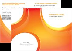 creer modele en ligne depliant 2 volets  4 pages  web design orange fond orange colore MIF75640